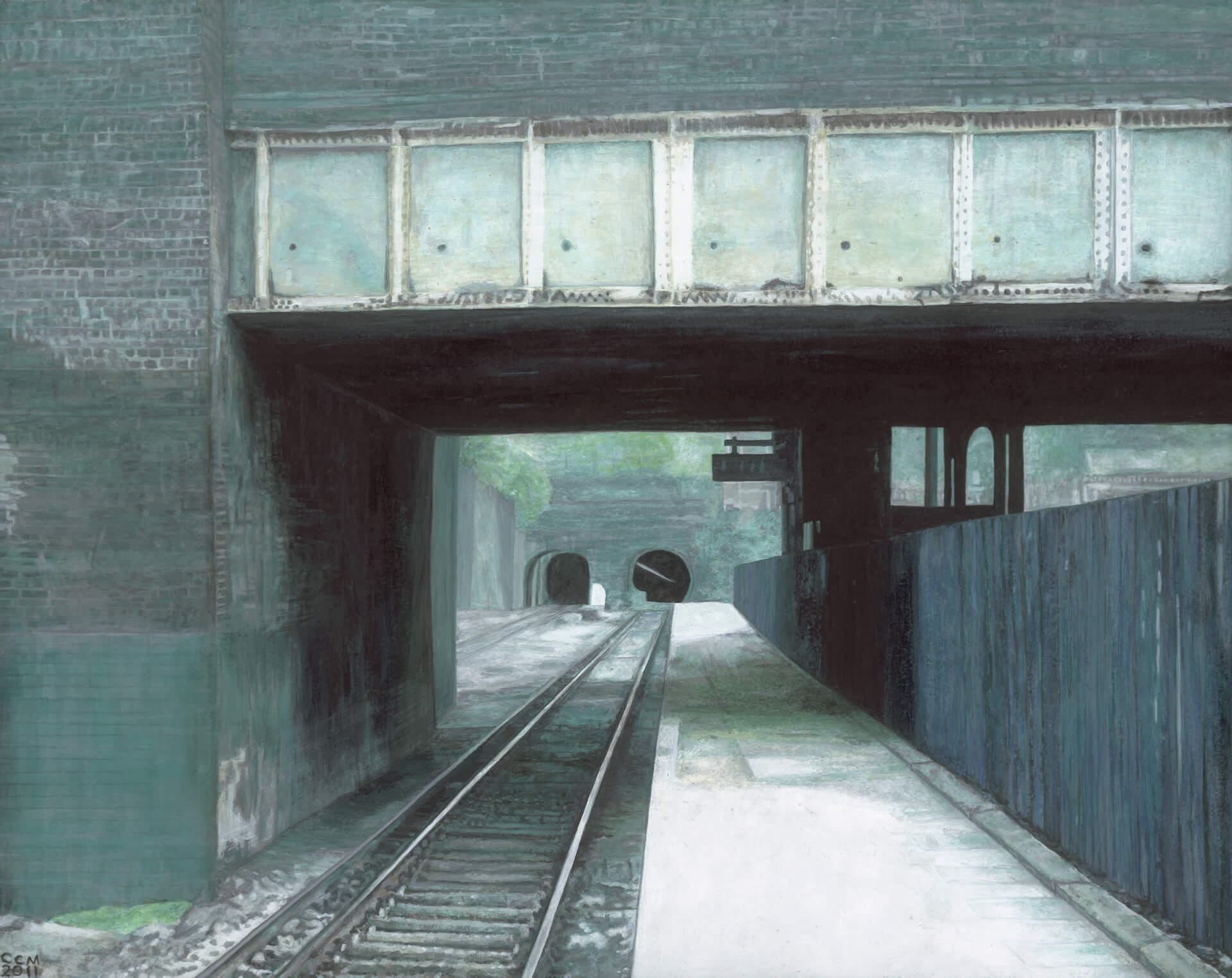 SOUTH HAMPSTEAD STATION 26 X 28 CM, 2011